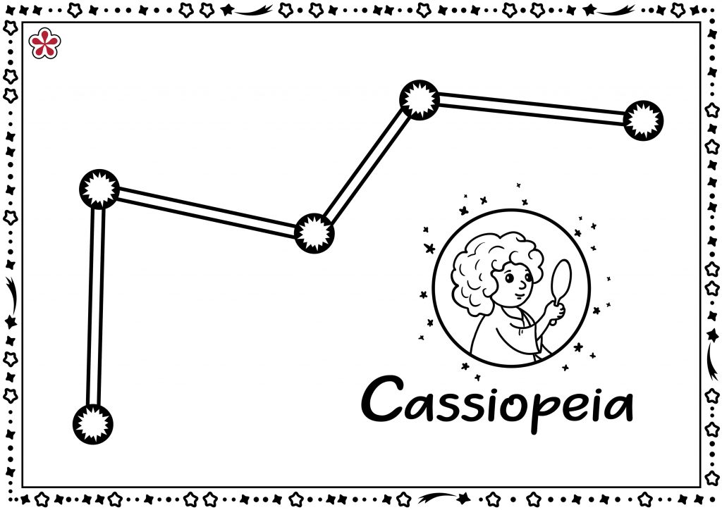 Cassiopea Constellation Templates for Kids