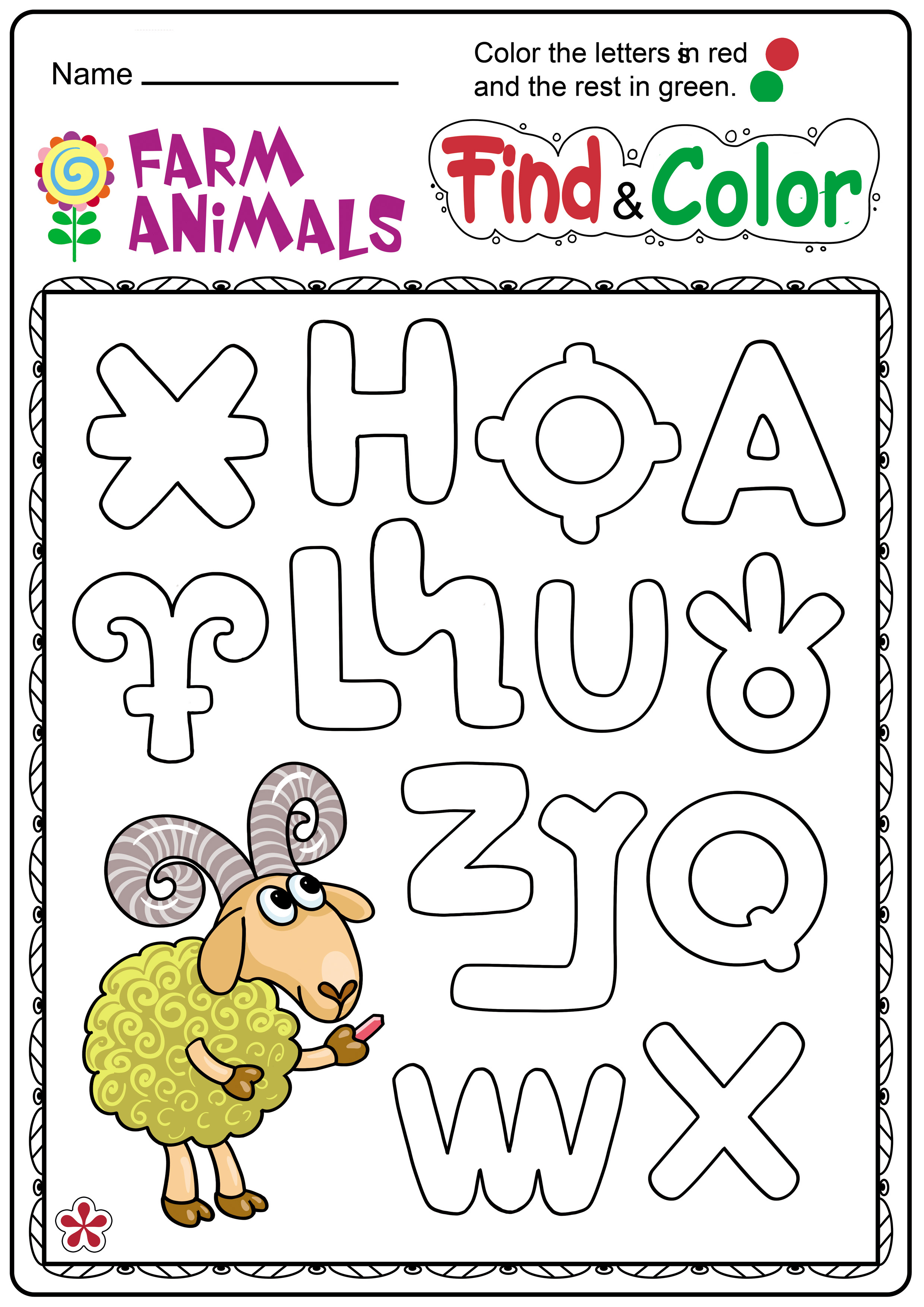 Worksheets On Farm Animals For Kindergarten