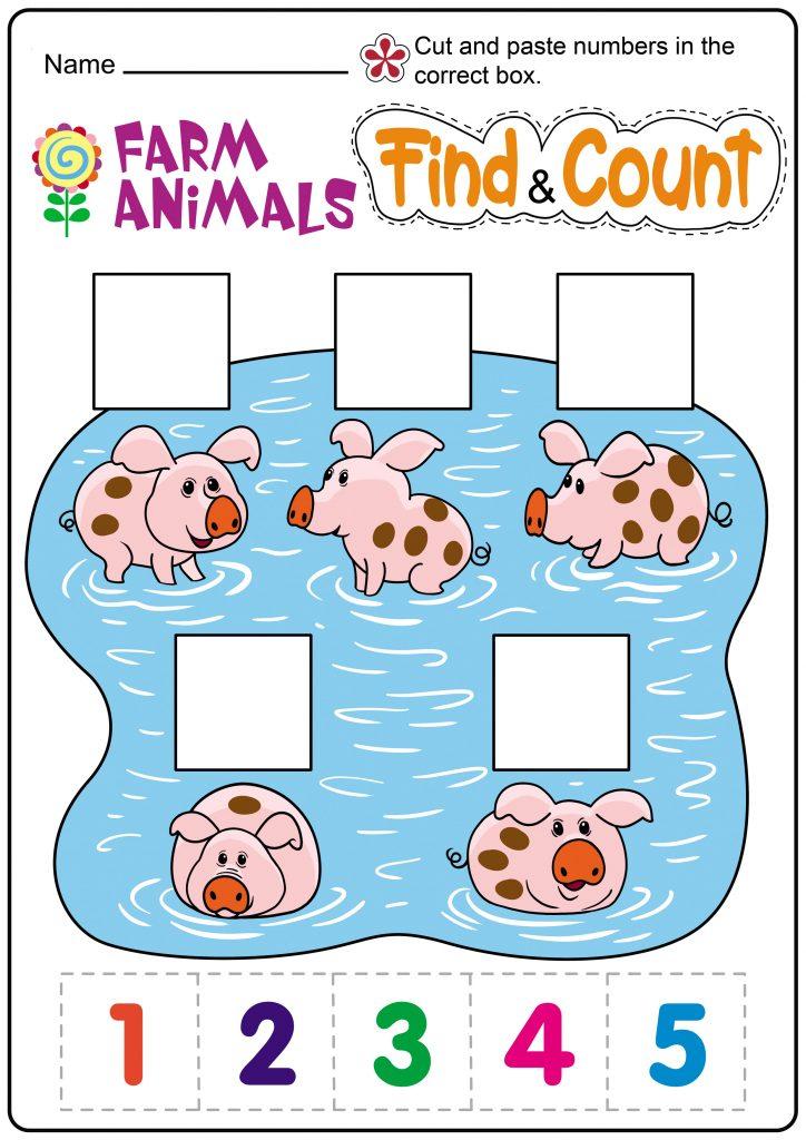 Count Pigs Worksheet