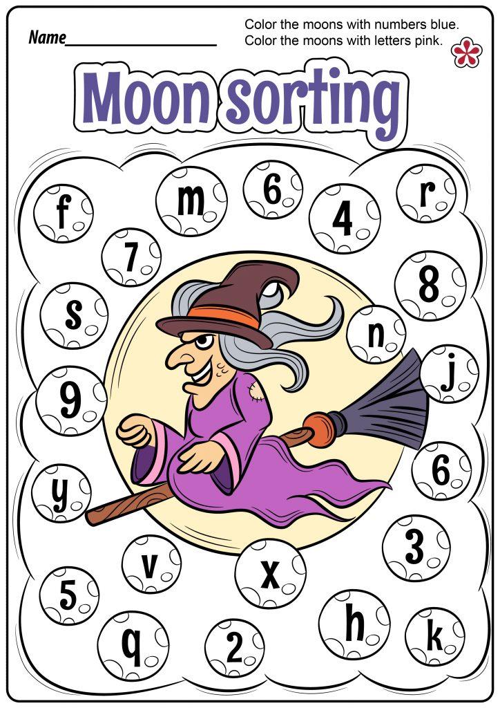 Moon Sorting Worksheet