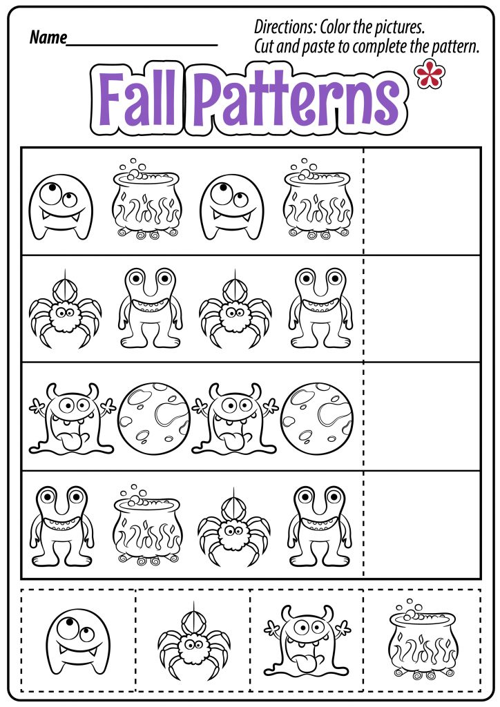 Fall Patterns Worksheets