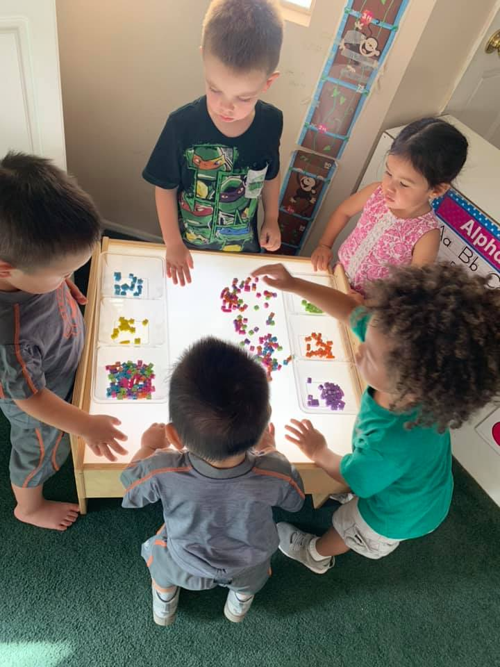 Light Table Center for Preschool