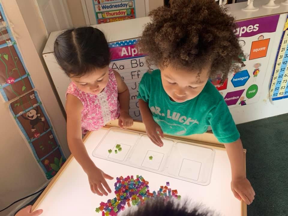 Light Table for preschoolers