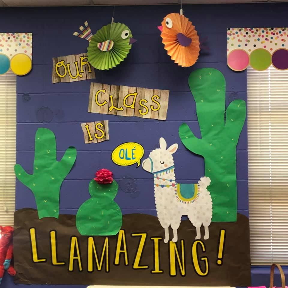 Llama and Cactus Classroom Decor