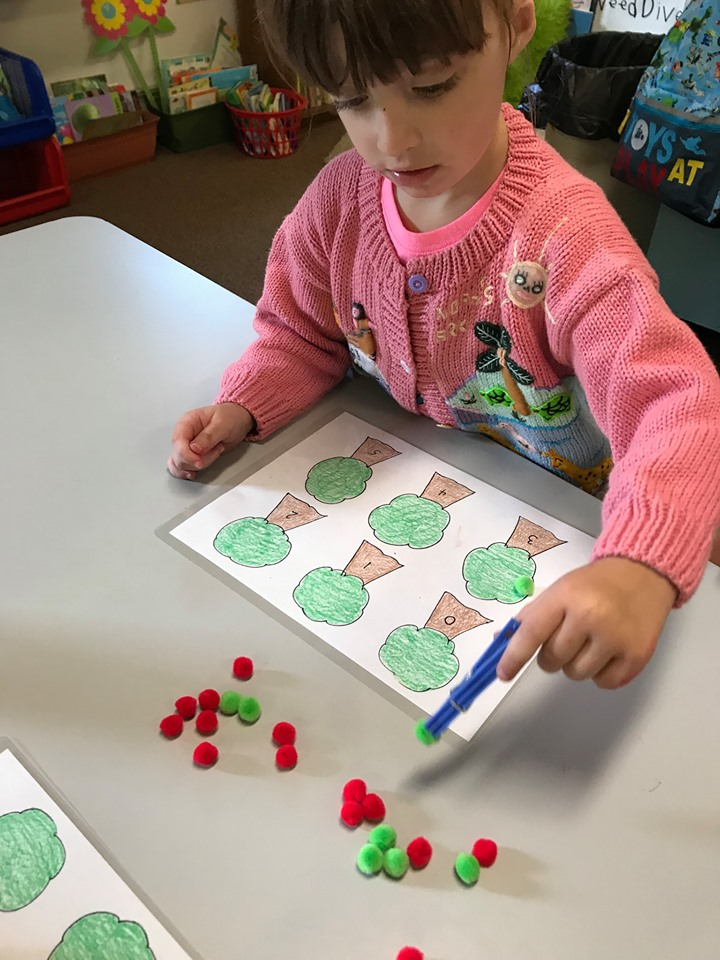 Apple Tree Math and Letter Activity
