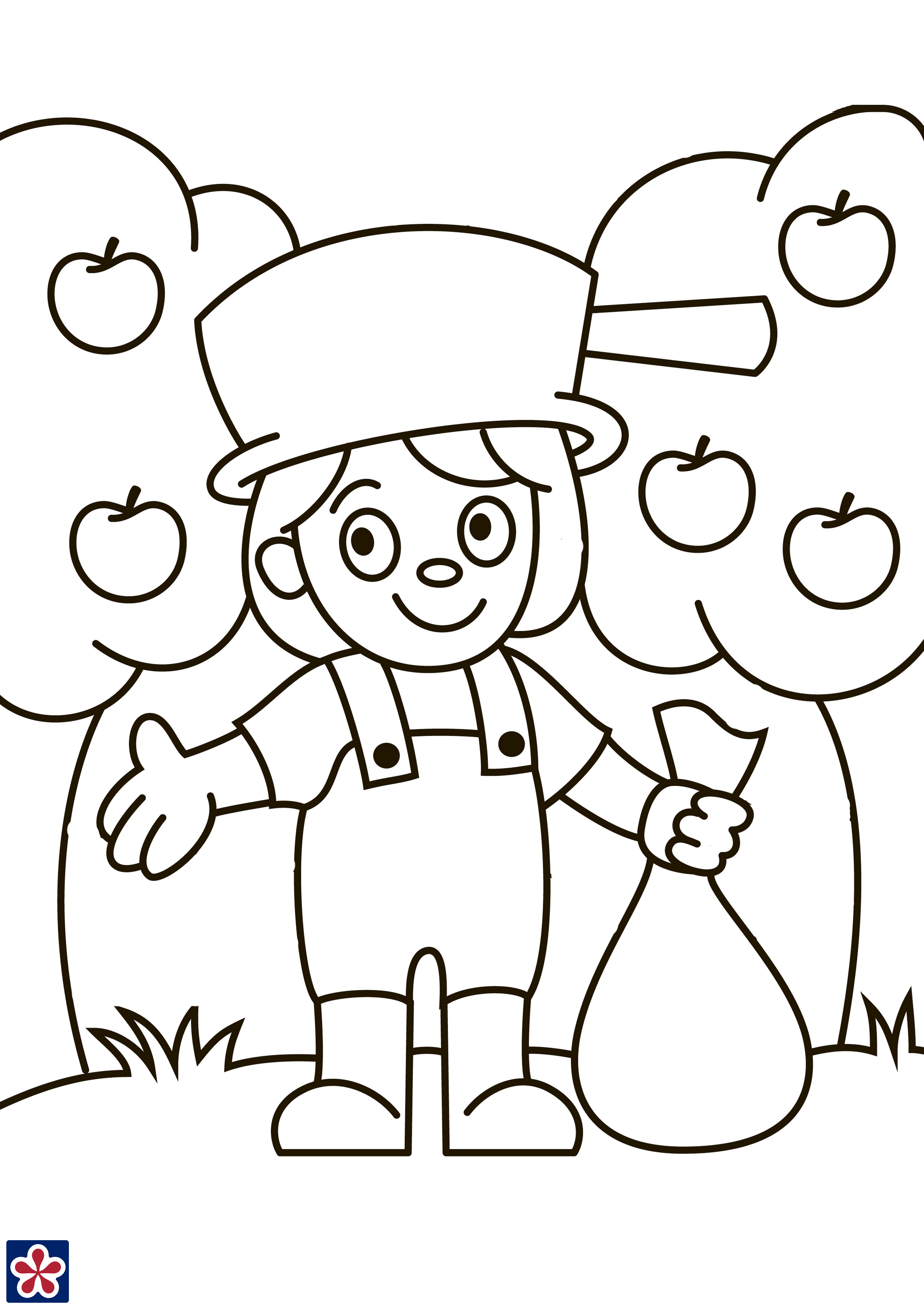 Johnny Appleseed Worksheets and Story for Kids ...