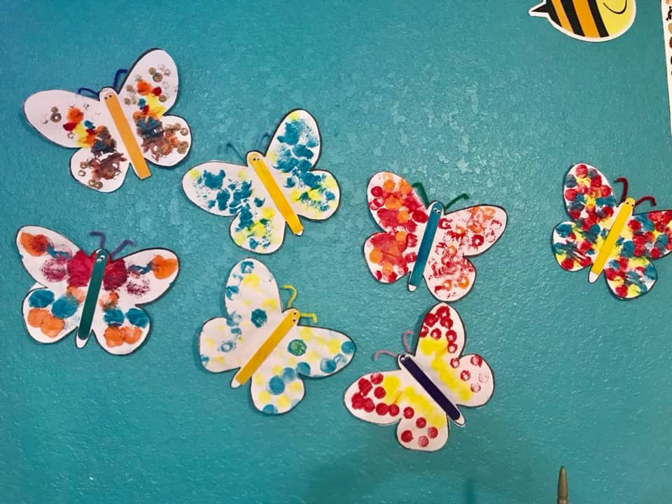 Symmetrical Butterfly Painting for Kids