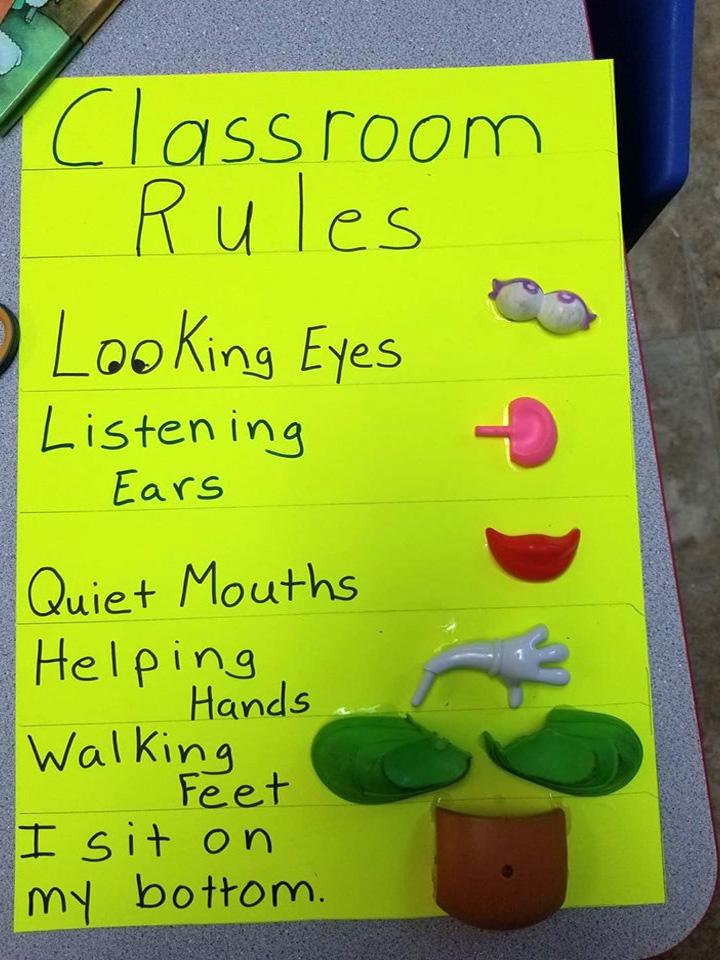 Preschool and Kindergarten Classroom Rules