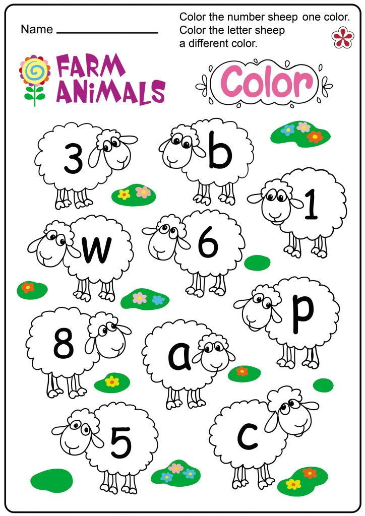 Farm Animals Color activity