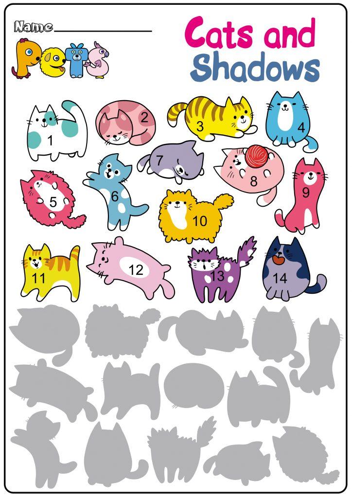 Cats and Shadows Worksheet