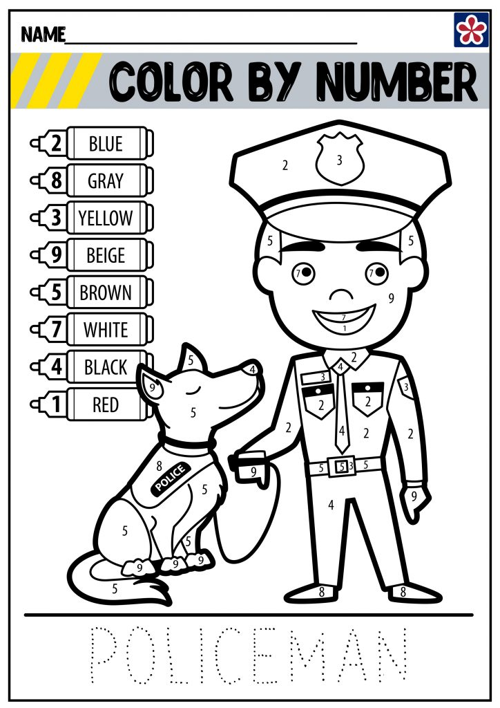 Police Color By Number