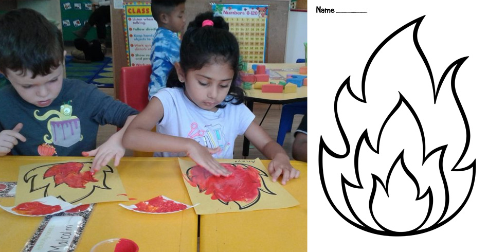 Fire Coloring and Painting Pages