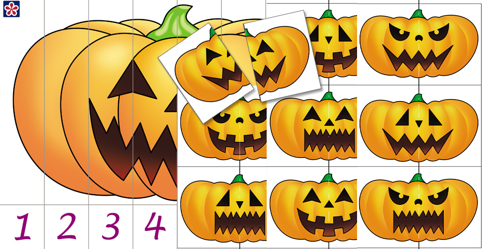 Free Printable Pumpkin Matching Puzzles