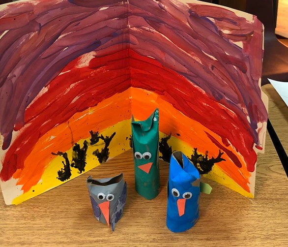 Owl-Themed Paper Towel Tube Craft
