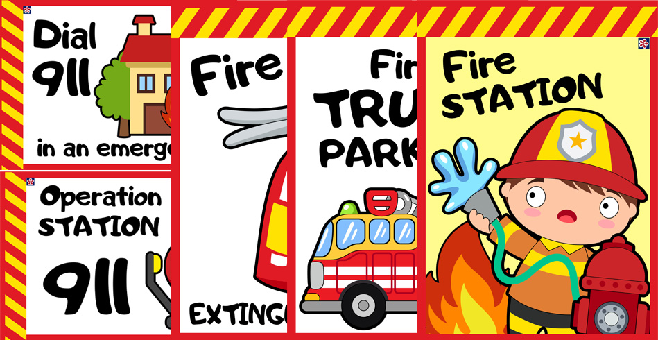 Free Printables For Fire Station-Themed Dramatic Play