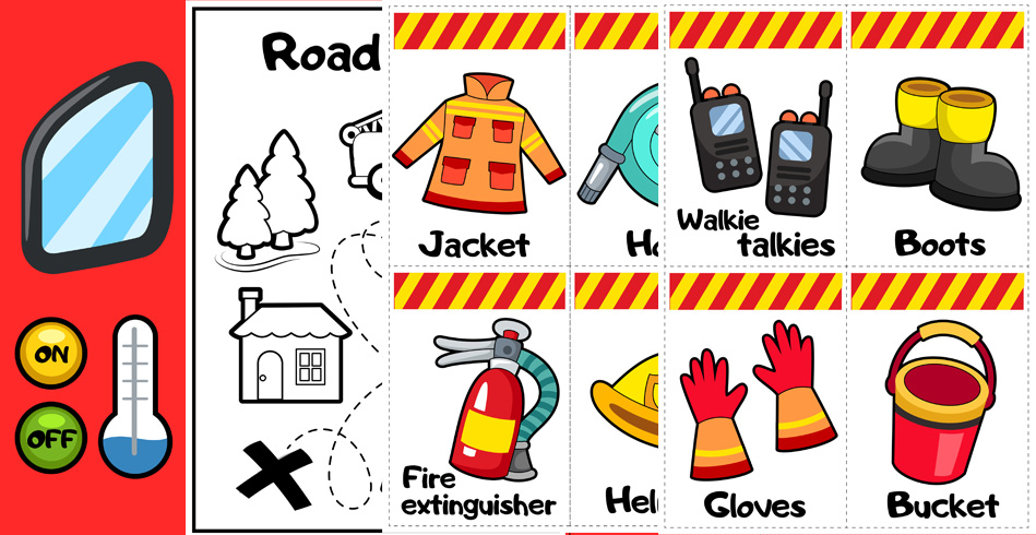 Fire Station Dramatic Play-Related Free Printables
