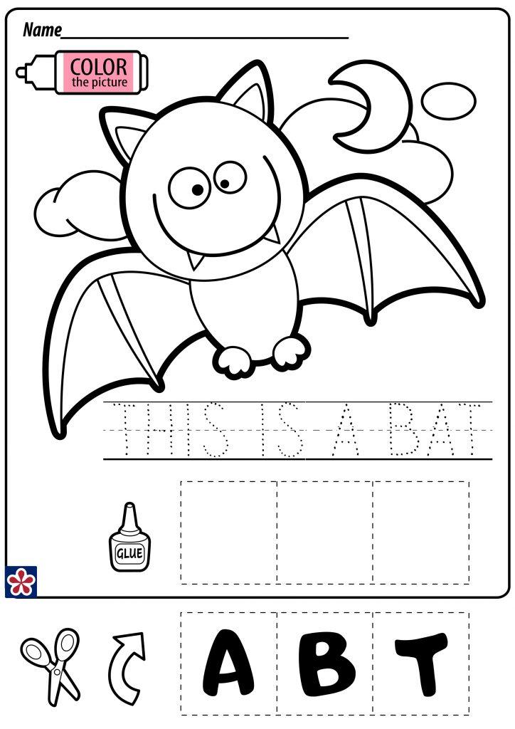 Bat Cut and Paste Worksheet