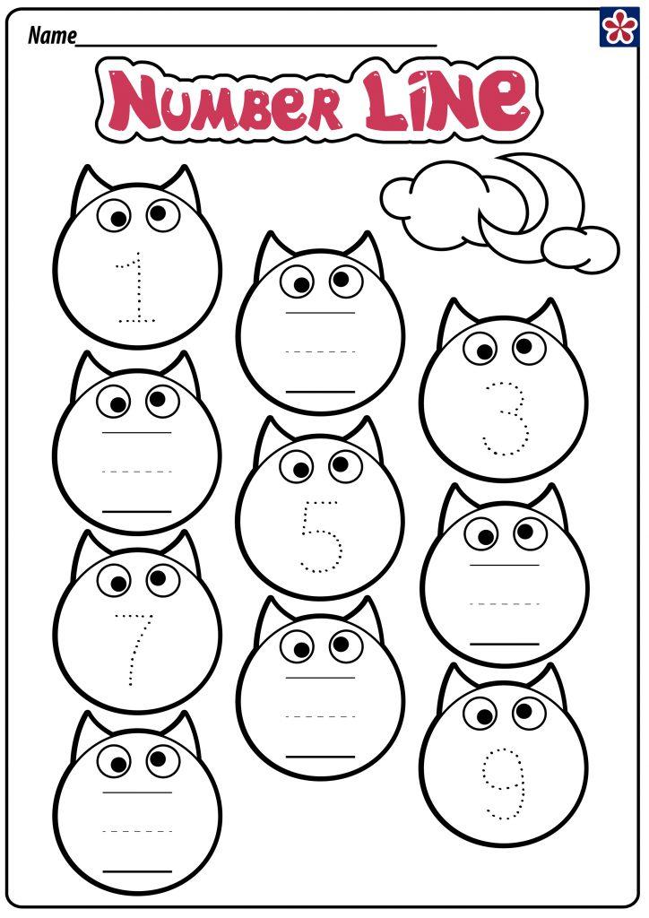 Bat Number Line Worksheet