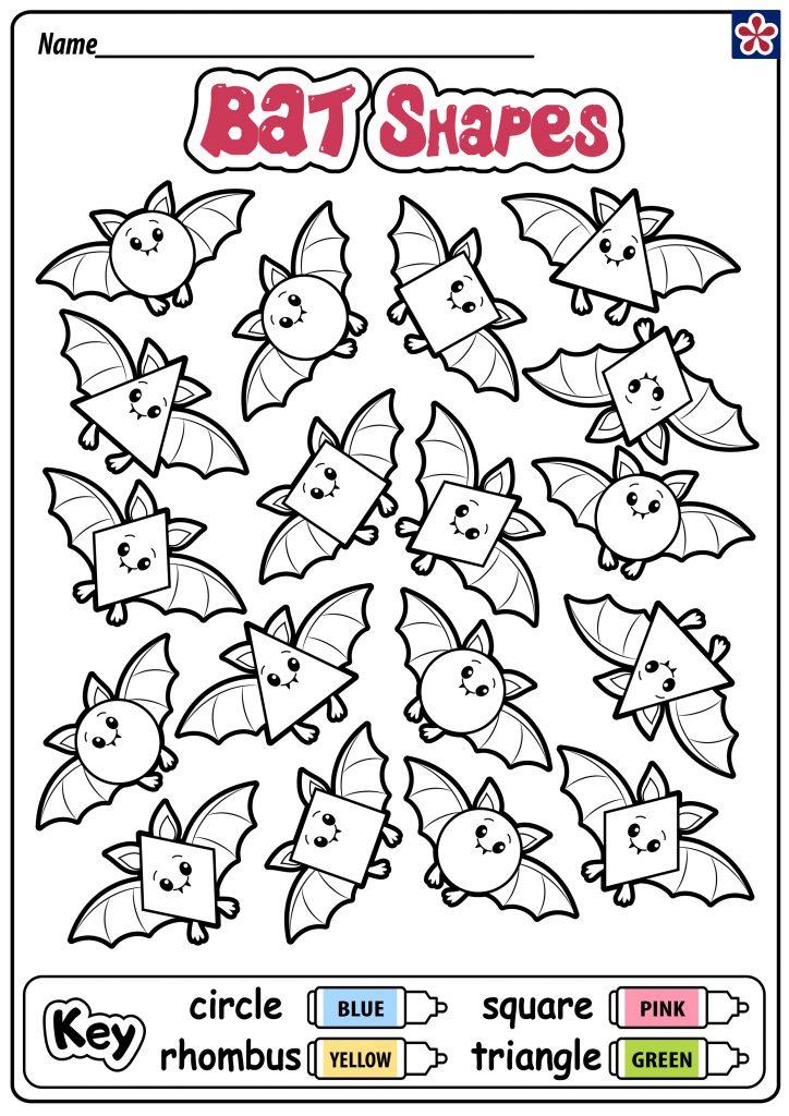 Bat Shapes Worksheet
