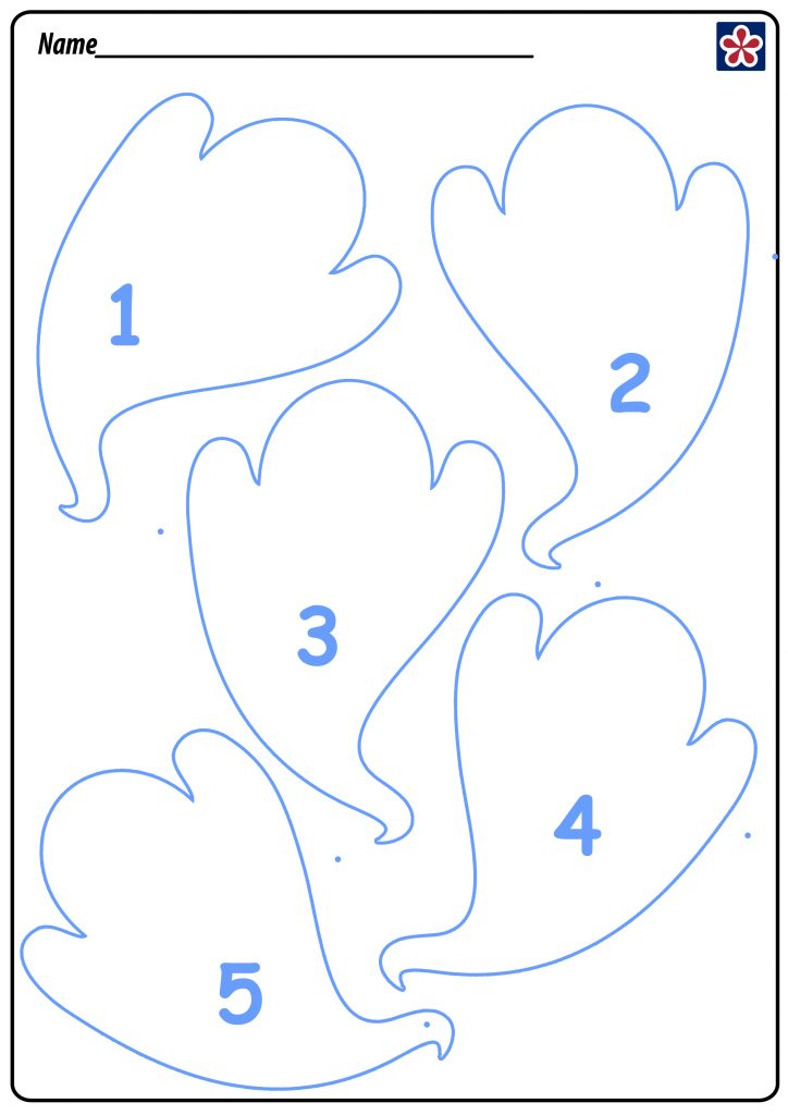 5 Little Ghosts Free Printable Template