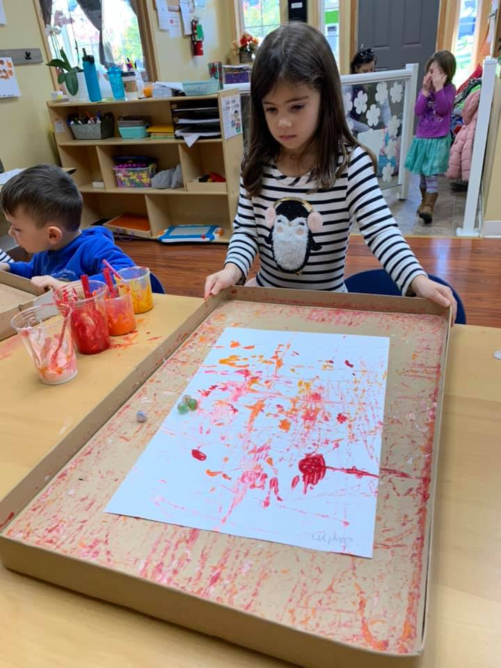 Marble Painting for Preschoolers