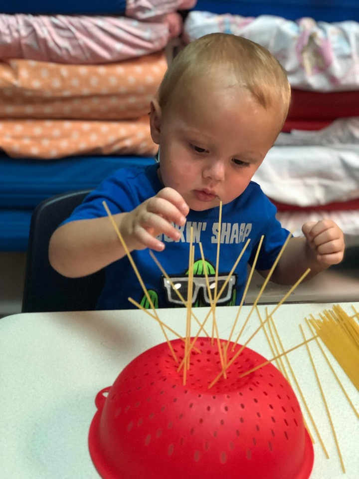 Pasta Play Activity for Toddlers
