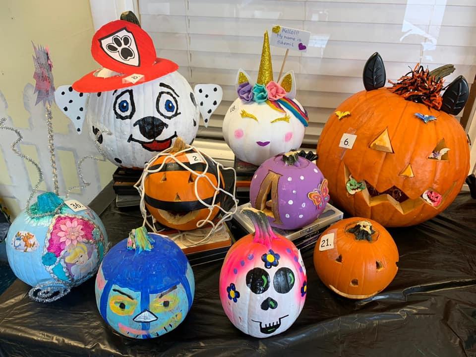 Pumpkin Decorating Contest in Preschool