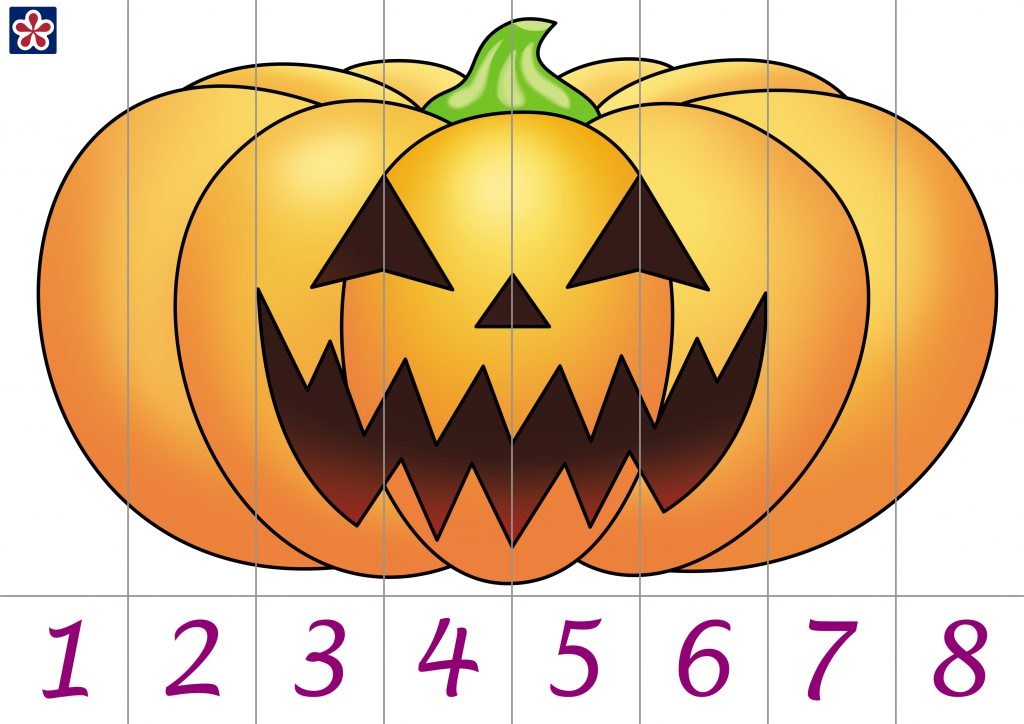 Pumpkin Number Counting Puzzle