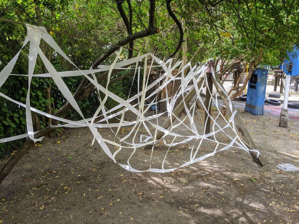Giant Spider Web Outdoor Activity for Preschoolers