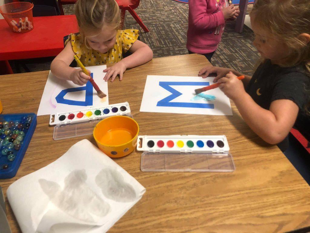 Watercolor Initials Project for Preschoolers