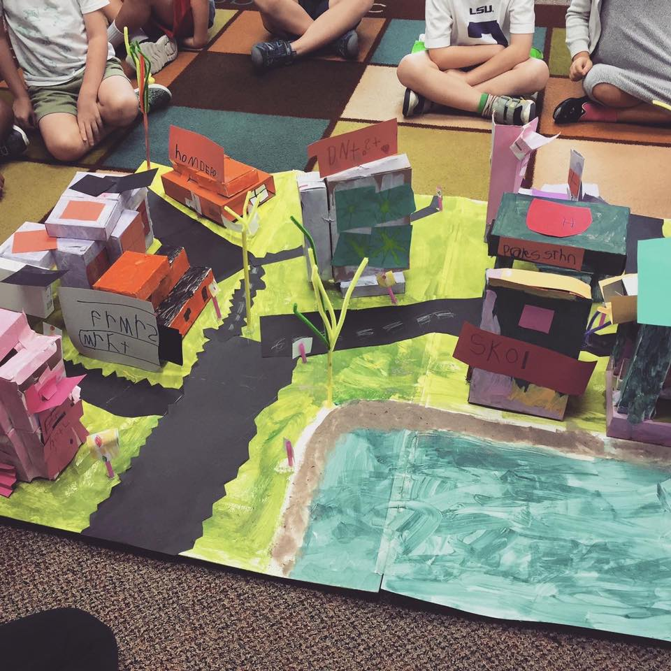 Cardboard Box Town Craft