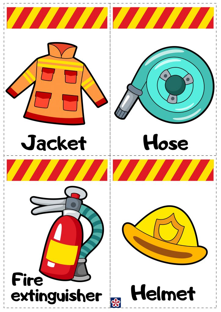 Fire Station Label Cards