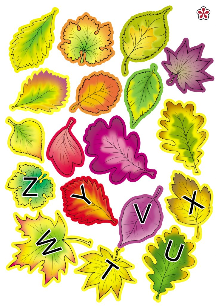 Fall Leaves Letter Match Free Printable