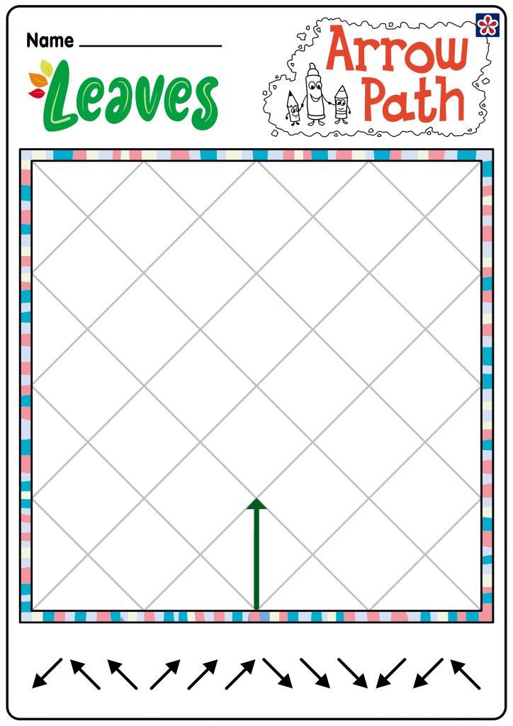 Leaves Arrow Path Worksheet