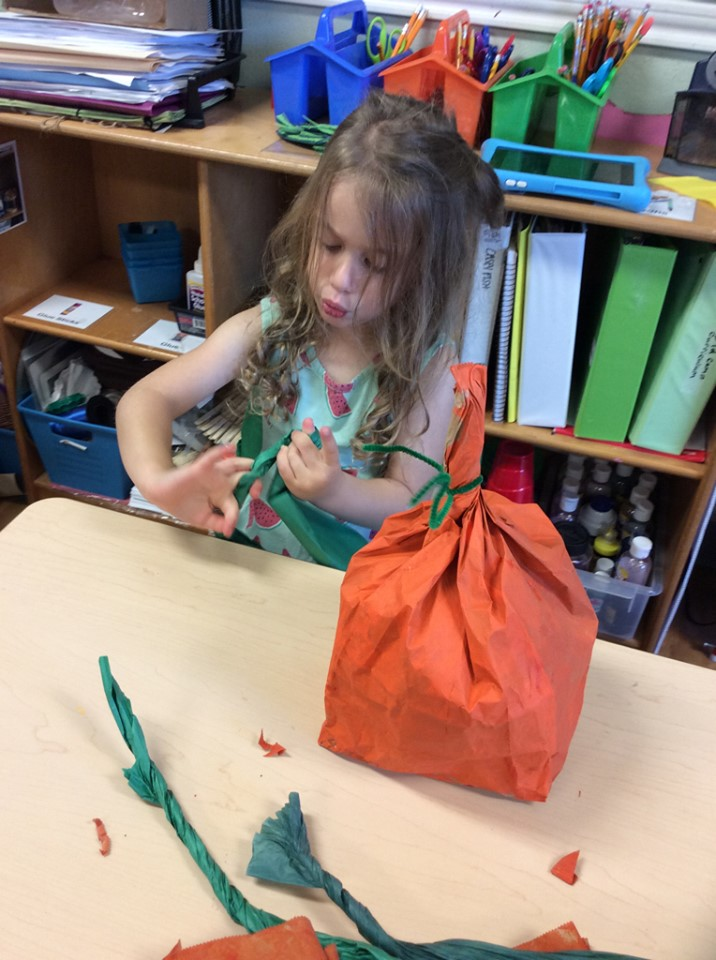 Easy Paper Bag Pumpkin Crafts for Preschoolers