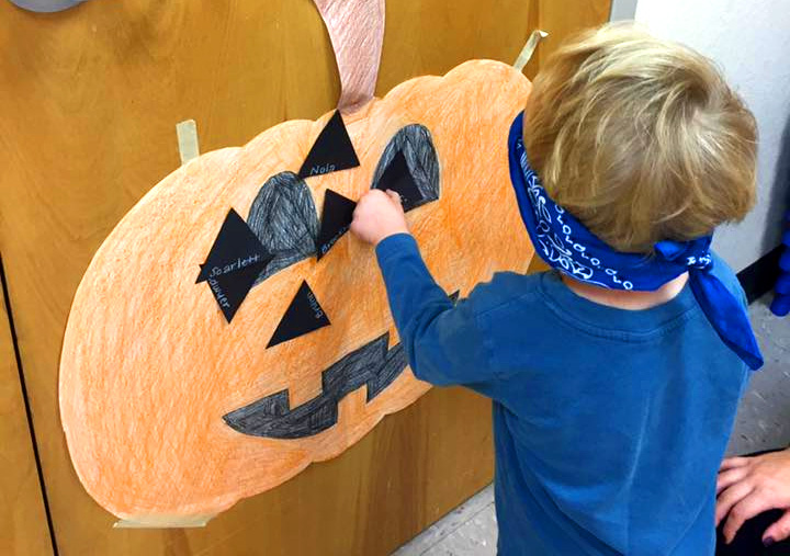 Pin the Nose on the Pumpkin - Halloween Party Game