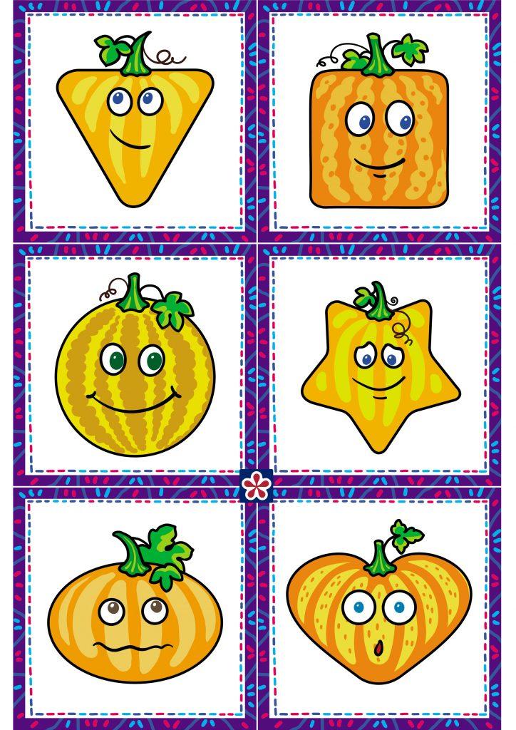 Pumpkin Matching Game, pumpkin shapes