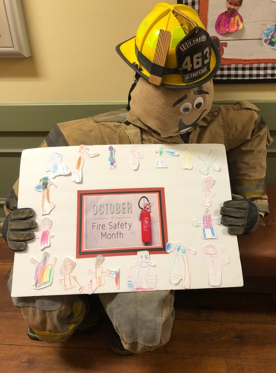 Sam the Firefighter Scarecrow