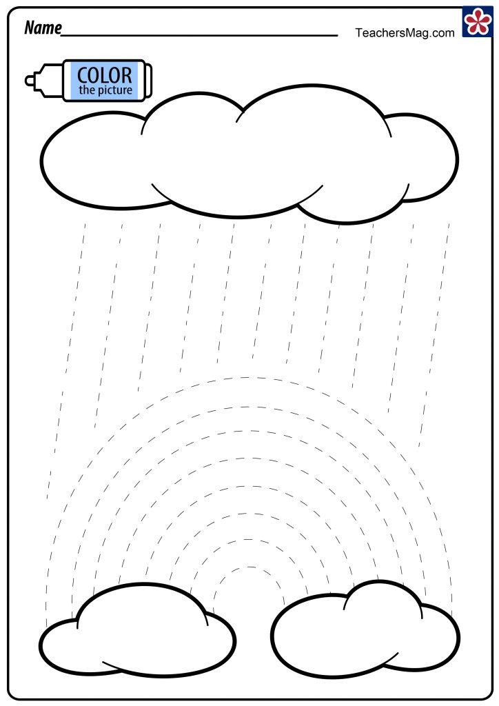 Rainbow Tracing Worksheet