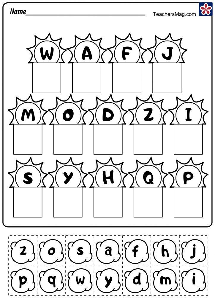 Lowercase Matching Worksheet