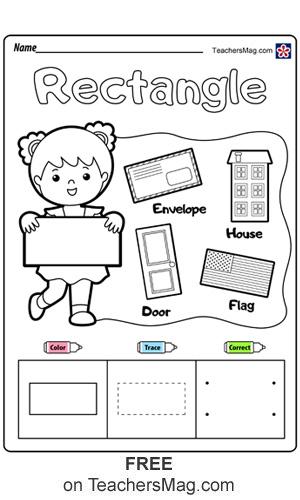 Shapes and Colors Worksheets for Kindergarten Students ...