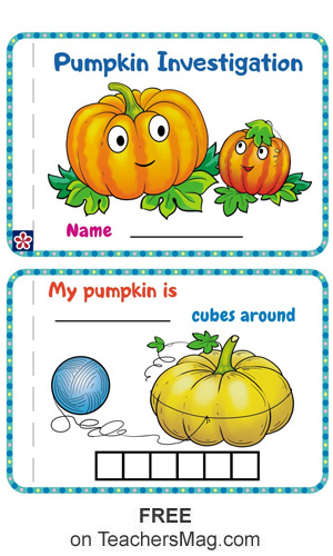 "Free, ""Pumpkin Investigation,"" Worksheet Book for Preschoolers"