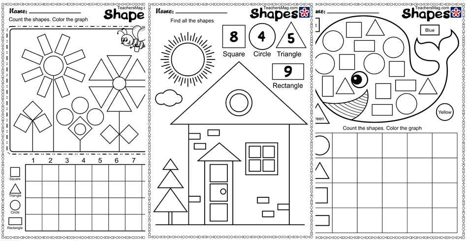 Shape and Counting Worksheets