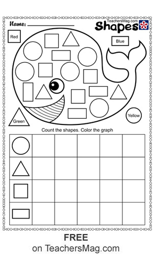 Shape And Counting Worksheets Teachersmag Com