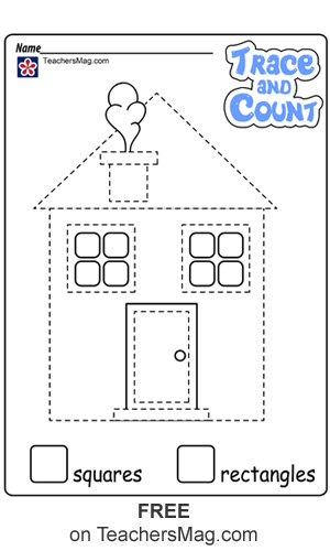 Shape Tracing and Counting Worksheets
