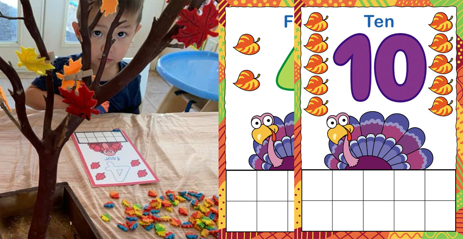 """Turkey Ten,"" Free Printable Math Game"