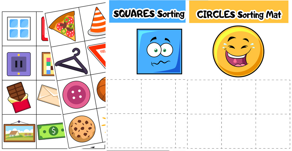 2D Shape Sorting Mats and Worksheets
