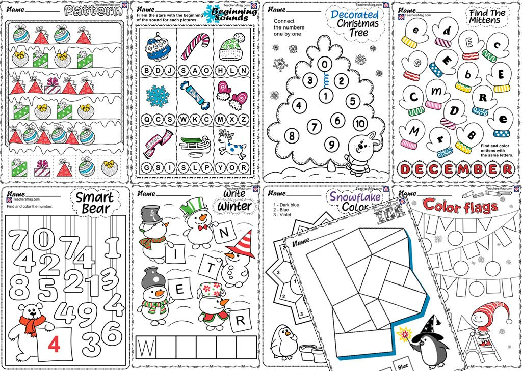Free Winter-Themed Worksheets