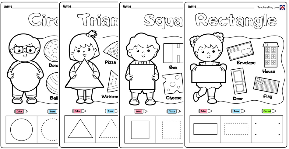 Free Shapes Worksheets for Preschoolers