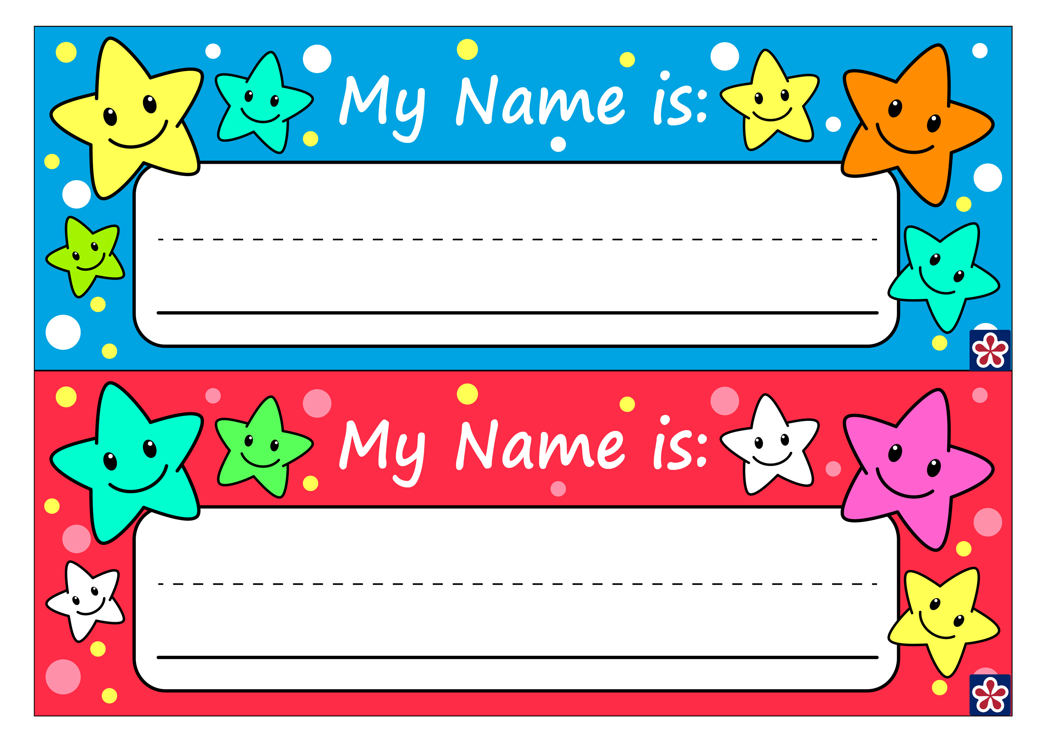 Free Printable Name Tags For